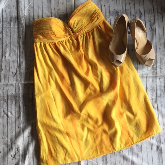 Gianni Bini Dresses & Skirts - Yellow strapless dress-only worn once